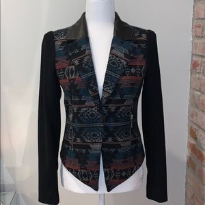 Bcbg generation leather Aztec coat XS